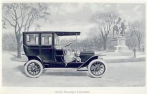 The 1909 seven passenger limousine