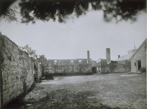 Courtyard at New-Gate Prison