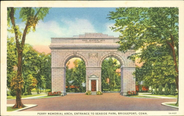 Perry Memorial Arch, Entrance to Seaside Park, Bridgeport