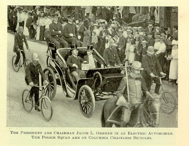 President Roosevelt and his entourage in Hartford