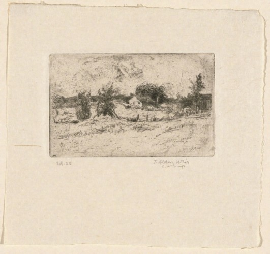 Julian Alden Weir, The Farm, etching