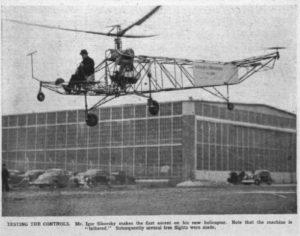 Igor Sikorsky's first helicopter ascent, Stratford