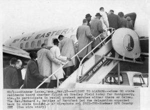 Plane departing for Selma-Montgomery March, 1965