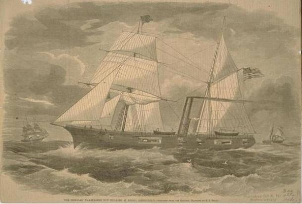 Navy Steamship Galena, 1861