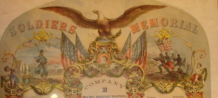 Image of Soldiers Memorial, Company B, 29th Regiment, Connecticut Volunteers