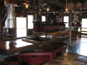 Steam-powered cider press at BF Clyde's in Mystic