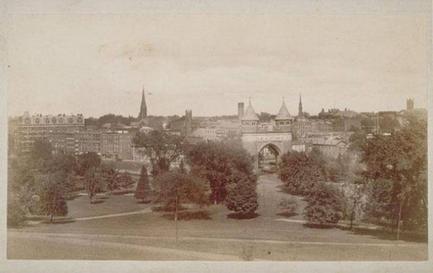 Panoramic view of Bushnell Park, Hartford