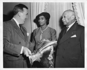 Marian Anderson with (on left) Governor Chester Bowles and W.C. Handy