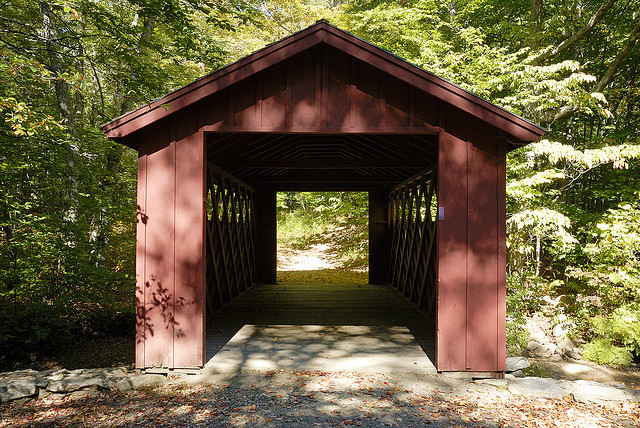 Covered bridge, Chatfield Hollow State Park, Killingworth