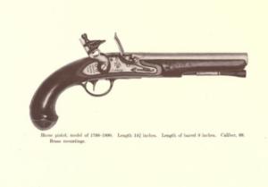 Horse pistol ca. 1799, Simeon North