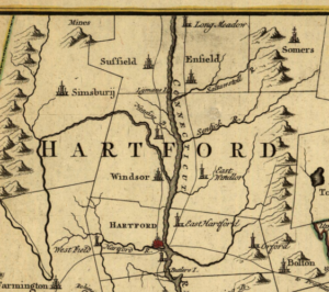 Detail of Connecticut and Parts Adjacent, 1780