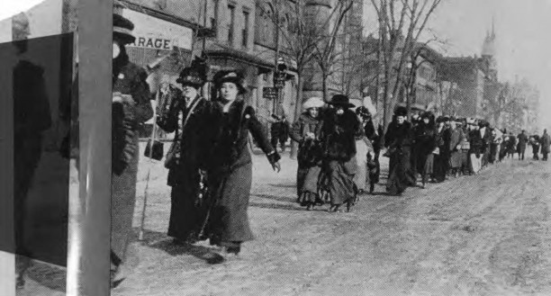Women Protestors of the Day March for the Vote