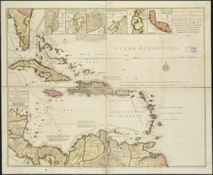 Map of the West Indies, 1717