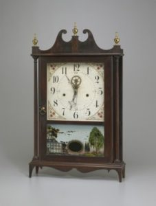 Shelf clock by Eli Terry