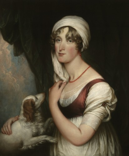 Sarah Trumbull with a Spaniel by John Trumbull