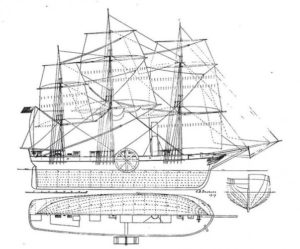 Diagram of SS Savannah