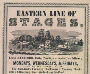Advertisement for the Eastern line of stages, 1842