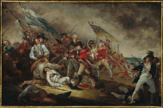 John Trumbull, The Death of General Warren at the Battle of Bunker's Hill, June 17,1775