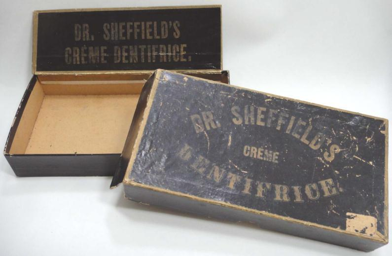 Dr. Sheffield's creme dentifrice box