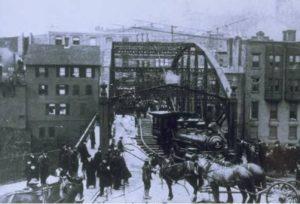 Railroad bridge, Norwich, ca. 1870