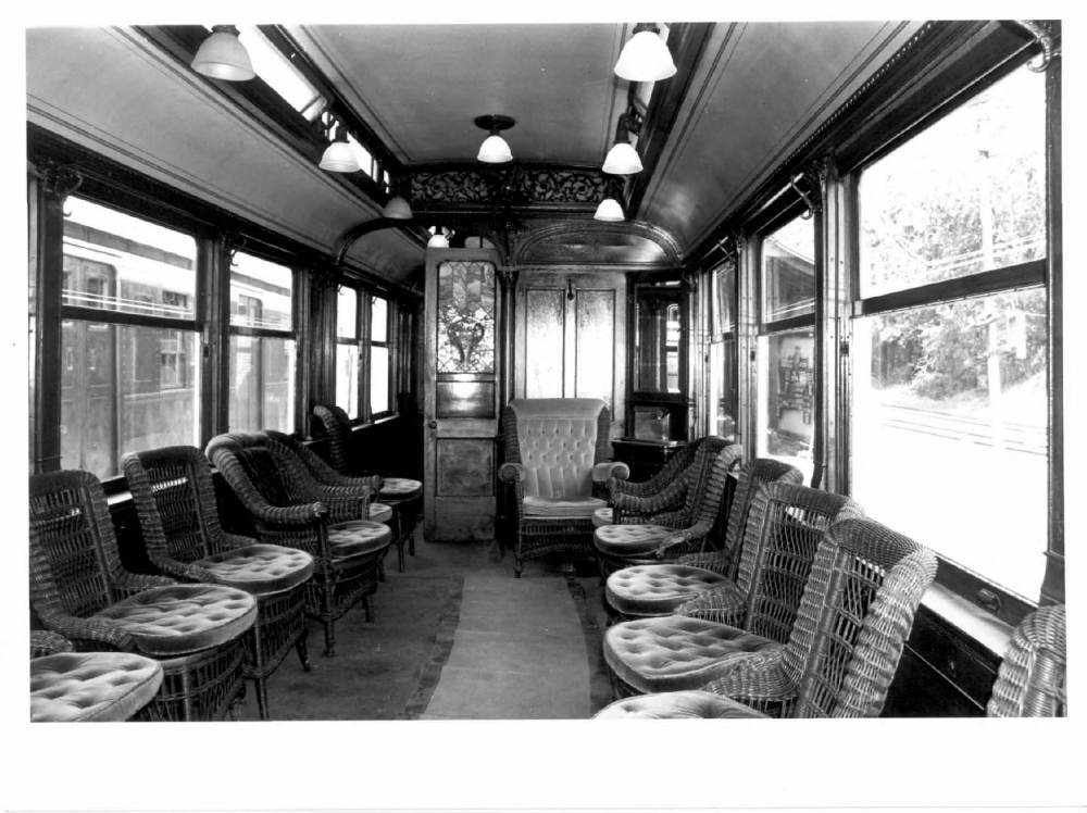 Trolley interior, Branford Electric Railway - Trolley Museum
