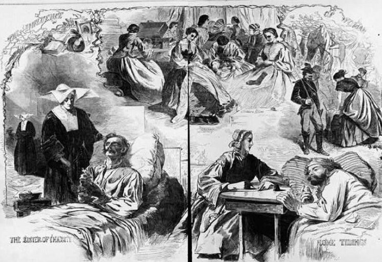 The Influence of Woman, Harper's Weekly, 1862