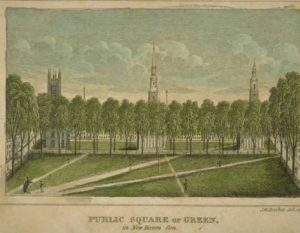 John Warner Barber, Public square or green, in New Haven