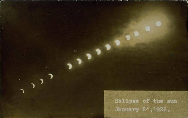 Total eclipse of the sun, Willimantic vicinity, January 24, 1925