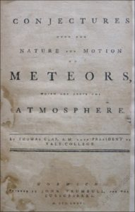Conjectures upon the Nature and Motion of Meteors by Thomas Clap