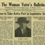 Detail from the front page of The Woman Voter's Bulletin, 1923