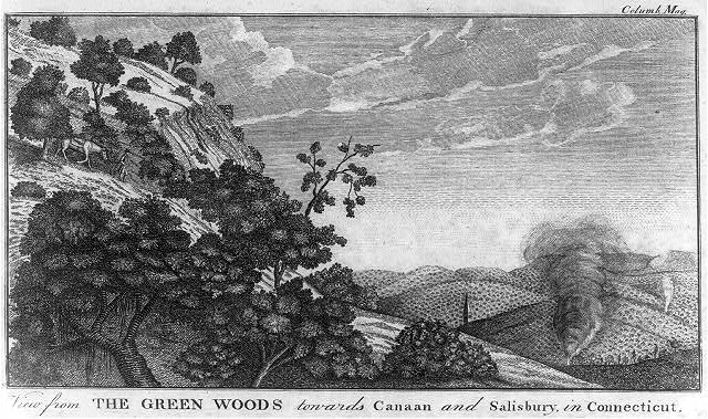 James Trenchard, View from the Green Woods towards Canaan and Salisbury, in Connecticut