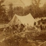 Testing the camping equipment on The Gunnery's campus in Washington