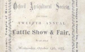 Oxford Agricultural Society Premium List, Oxford Agricultural Fair 1875