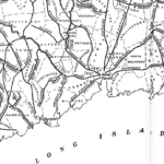Map detail from Turnpikes of Connecticut,