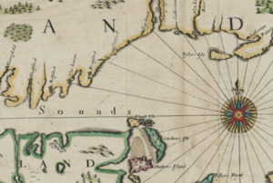 Detail from A mapp of New England by John Seller