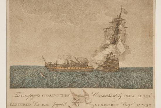 The U.S. Frigate Constitution commanded by Isaac Hull