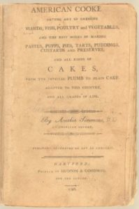 American Cookery, Amelia Simmons, Hartford