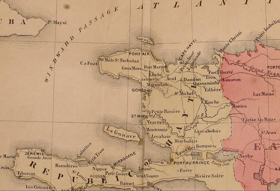 Detail from a map of Hayt