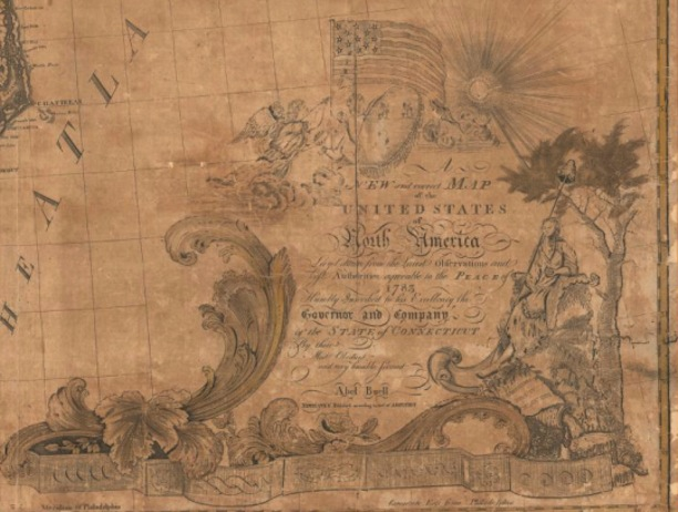 Detail of A New and Correct Map of the United States by Abel Buell