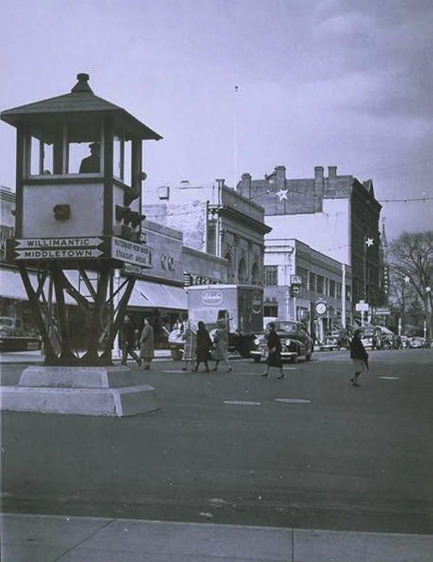 Downtown Meriden, West Main Street, 1948