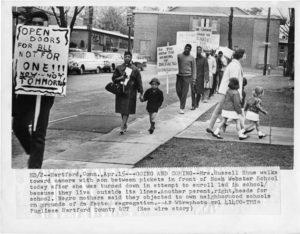 Segregation Picket line-Noah Webster School, Hartford