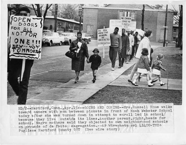 Segregation Picket line-Noah Webster School, Hartford