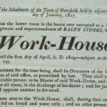 Broadside announcing changes to Mansfield's Poor-House