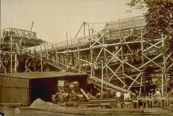 Shipbuilding at Gildersleeve Ship Construction Co., Portland