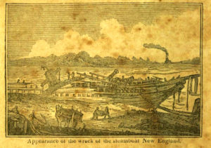New England burst its boilers off Essex, October 8, 1833