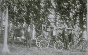 A family outing in the Woodmont section of Milford, September, 1887