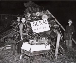 World War II scrap metal drive, Hartford, ca. 1941-1944
