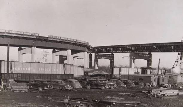 Charter Oak Bridge construction, ca. 1941