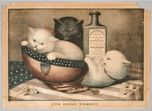 The Great Remedy. Hand-colored lithograph by E.B. & E.C. Kellogg