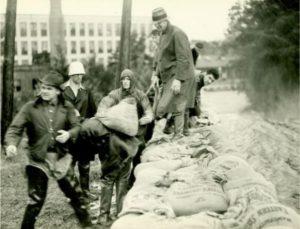 Sandbags in Rockville. September 22, 1938